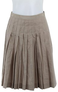 Lanvin Pleated Skirt Tan