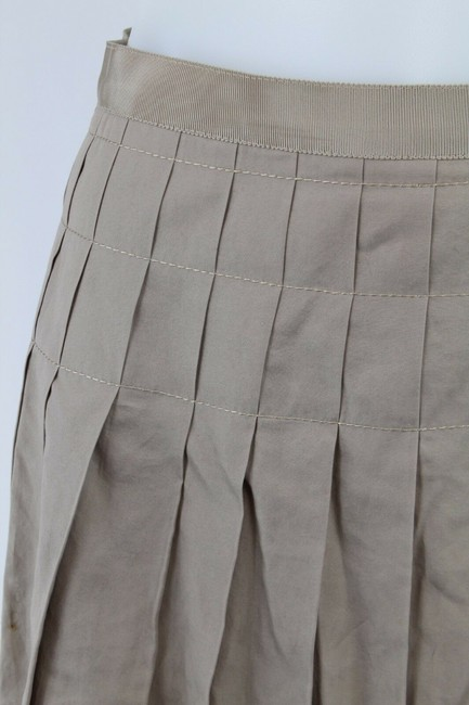 Lanvin Pleated Skirt Tan Image 1