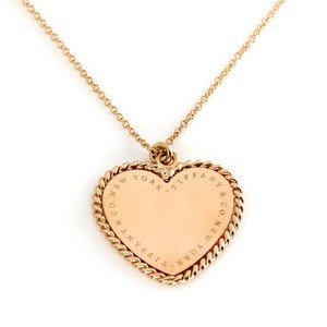 Tiffany & Co. Heart Rope Design Pendant & Chain in 18k Pink Gold