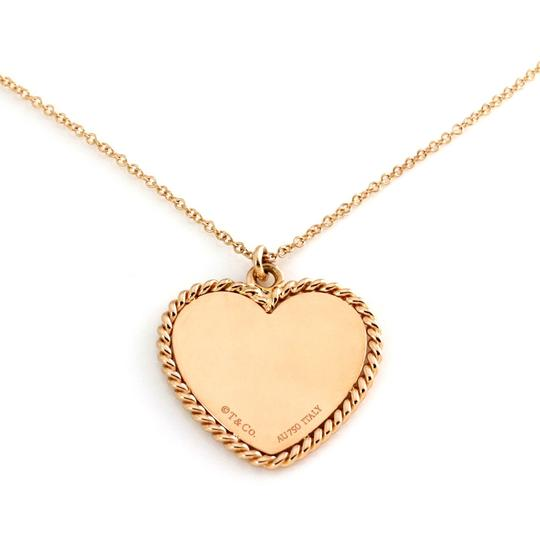 Tiffany & Co. Heart Rope Design Pendant & Chain in 18k Pink Gold Image 2