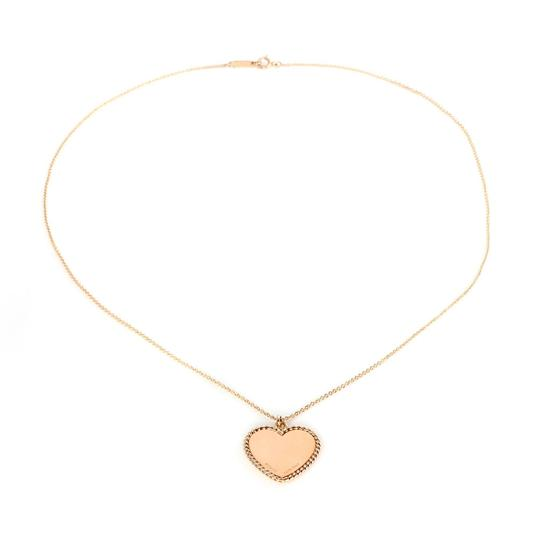 Tiffany & Co. Heart Rope Design Pendant & Chain in 18k Pink Gold Image 3