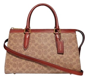 Coach Satchel in brass tan rust