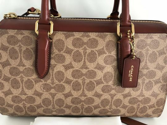 Coach Satchel in brass tan rust Image 6