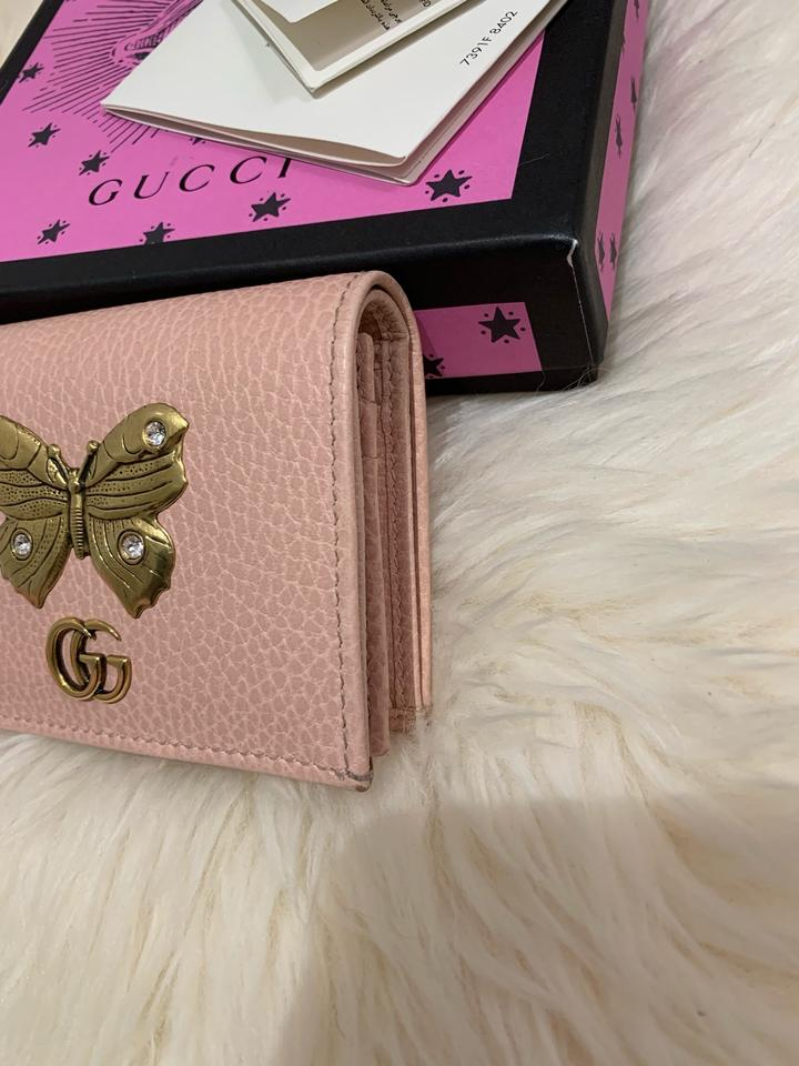 466ccaaea0c471 Gucci GG Marmont Butterfly Bifold Leather Compact Wallet Image 10.  1234567891011