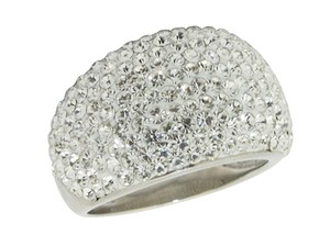 Frost Sterling Silver Ring: White Crystal