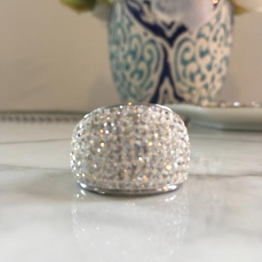Frost Sterling Silver Ring: White Crystal Image 2