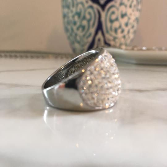 Frost Sterling Silver Ring: White Crystal Image 3