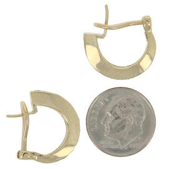 Other Round Brilliant Diamond Earrings - 14k Yellow Gold Pierced J-H E2631 Image 3