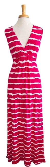 Preload https://img-static.tradesy.com/item/25193514/michael-michael-kors-pink-white-and-striped-long-casual-maxi-dress-size-4-s-0-1-650-650.jpg