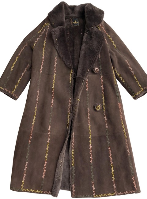 Item - Brown Vintage Shearling Leather Style 5033/Fr Coat Size 10 (M)