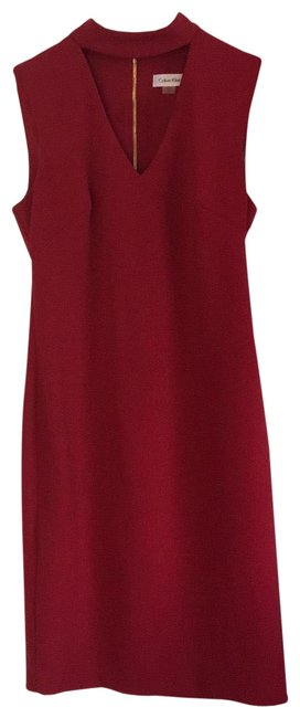 Preload https://img-static.tradesy.com/item/25193562/calvin-klein-brick-red-choker-neck-cocktail-or-mid-length-workoffice-dress-size-4-s-0-1-650-650.jpg