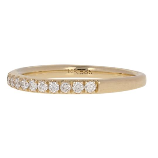 Other NEW Round Brilliant Diamond Wedding Band - 14k Yellow Gold E2965 Image 1