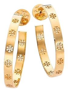 Tory Burch T pierced hoop earrings