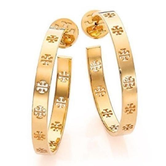 Tory Burch T pierced hoop earrings Image 1