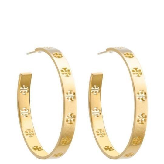 Tory Burch T pierced hoop earrings Image 2