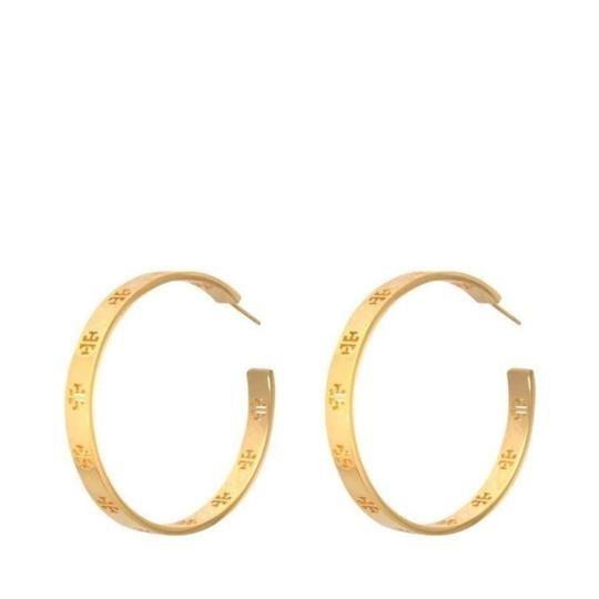 Tory Burch T pierced hoop earrings Image 3