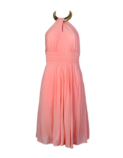 Preload https://img-static.tradesy.com/item/25193725/michael-kors-pink-goldtone-necklace-detail-halter-short-cocktail-dress-size-2-xs-0-0-650-650.jpg