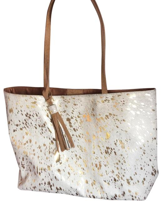 Item - Cowhide Cream and Gold. Toggle Detail Tote