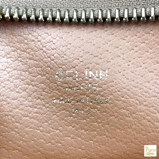 Céline Celine Brown Macadam Print Coated Canvas Cosmetic Pouch Make Up Bag Image 11
