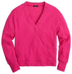 J.Crew Pink Faux-wrap Sweater