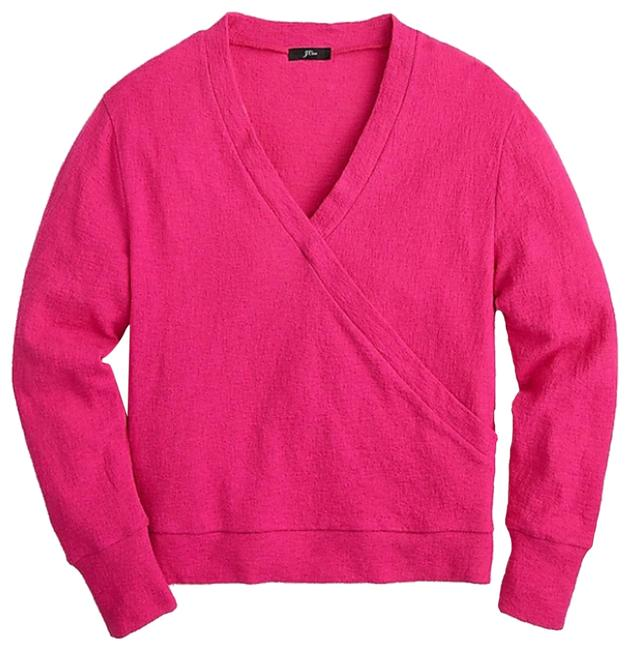 J.Crew Pink Faux-wrap Sweater Image 0
