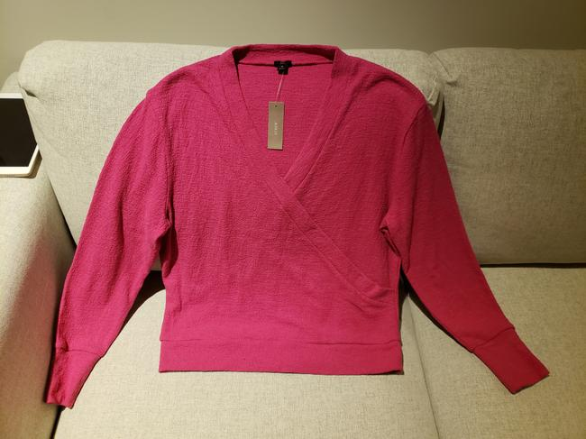J.Crew Pink Faux-wrap Sweater Image 1
