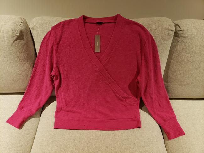 J.Crew Pink Faux-wrap Sweater Image 2