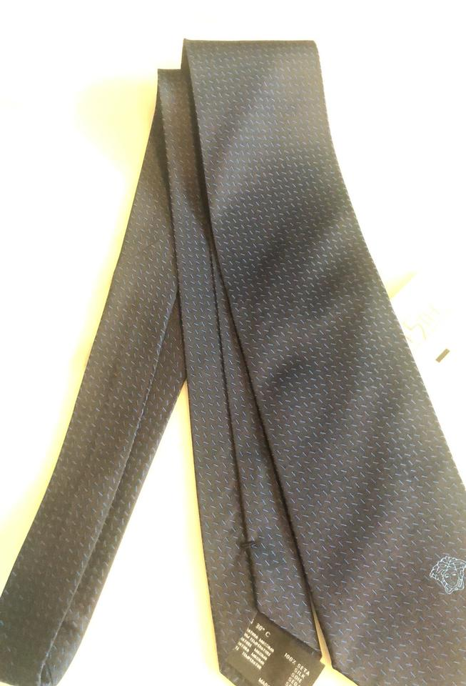 00d4cf29fbe2 Versace Black and Blue Scarf Wrap - Tradesy