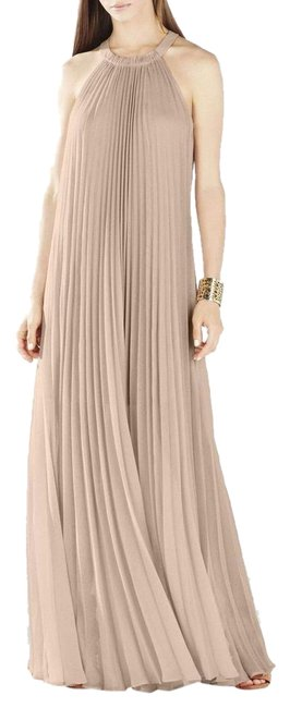 Preload https://img-static.tradesy.com/item/25193780/bcbgmaxazria-bare-pink-meghen-halter-neck-pleated-gown-long-cocktail-dress-size-8-m-0-1-650-650.jpg