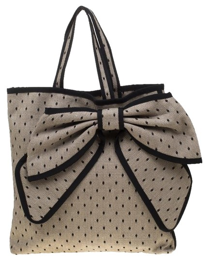 Preload https://img-static.tradesy.com/item/25193826/red-valentino-beigeblack-lace-and-beige-canvas-tote-0-1-540-540.jpg