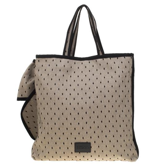RED Valentino Canvas Lace Tote in Beige Image 1
