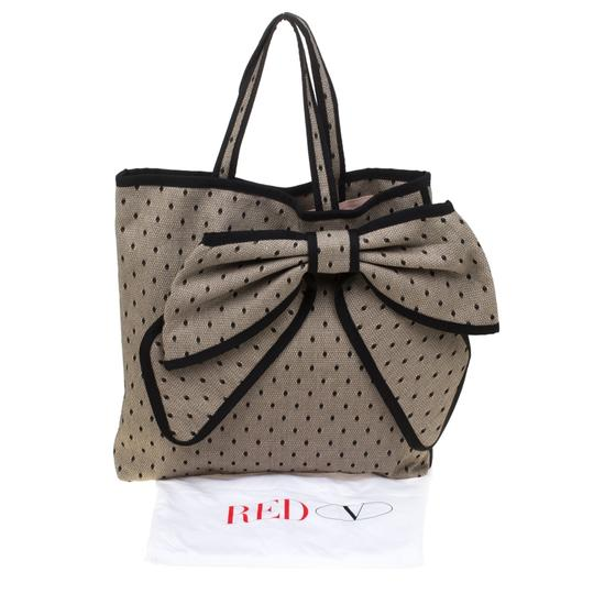 RED Valentino Canvas Lace Tote in Beige Image 10