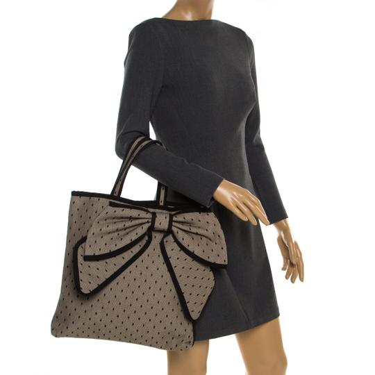 RED Valentino Canvas Lace Tote in Beige Image 2