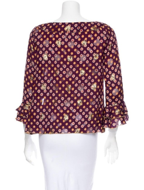 Anna Sui Top Burgundy, Gold Image 2