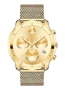 Movado Bold Stainless Mesh Strap Sunray Dial Chronograph 3600372
