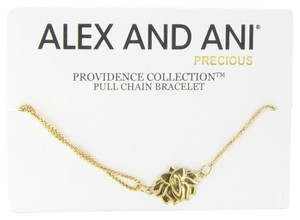 Alex and Ani Providence Lotus Peace Petals Bracelet PC14SPB04G Gold Plated