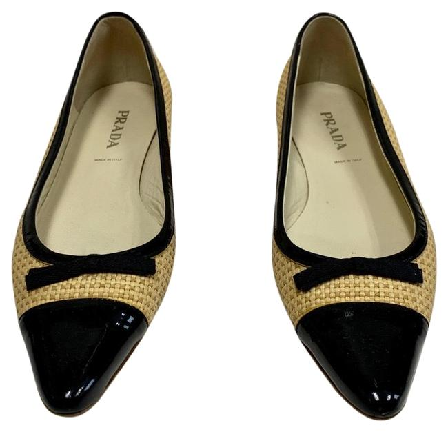 Item - Tan and Black Patent Flats Size EU 40 (Approx. US 10) Regular (M, B)