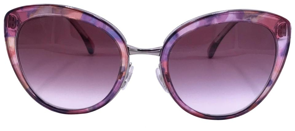 85dd698afb132 Chanel Pink  Silver 4208 C.466 S1 Butterfly Fall Cat Eye Sunglasses ...