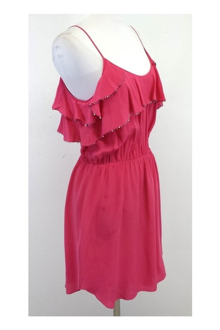 Rebecca Taylor short dress Pink Sequined Ruffle on Tradesy Image 1