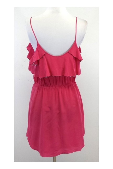 Rebecca Taylor short dress Pink Sequined Ruffle on Tradesy Image 2