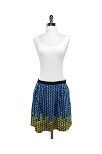 Marc by Marc Jacobs Yellow Geo Print Silk Skirt Blue