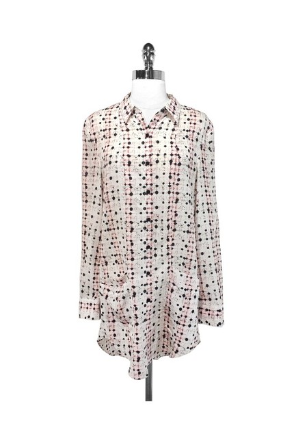 Theyskens' Theory short dress white Abstract Print Silk on Tradesy Image 1
