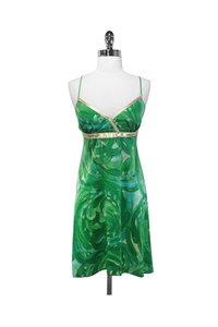Alexia Admor short dress green Gold Silk Leather on Tradesy