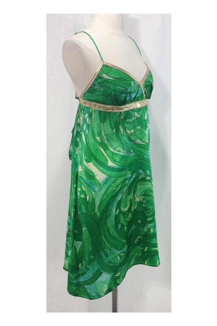 Alexia Admor short dress green Gold Silk Leather on Tradesy Image 1