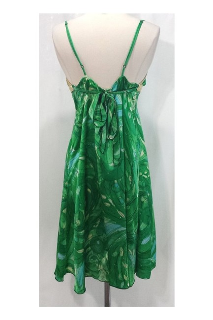 Alexia Admor short dress green Gold Silk Leather on Tradesy Image 2