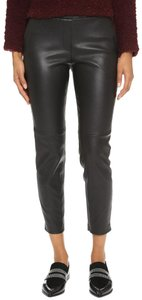 Theory Leather Work Casual Party Night Out Skinny Pants Black