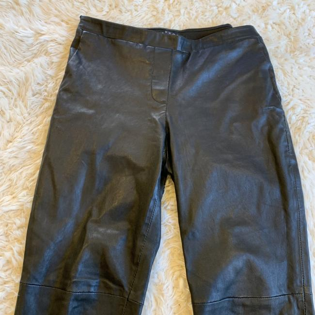 Theory Leather Work Casual Party Night Out Skinny Pants Black Image 7