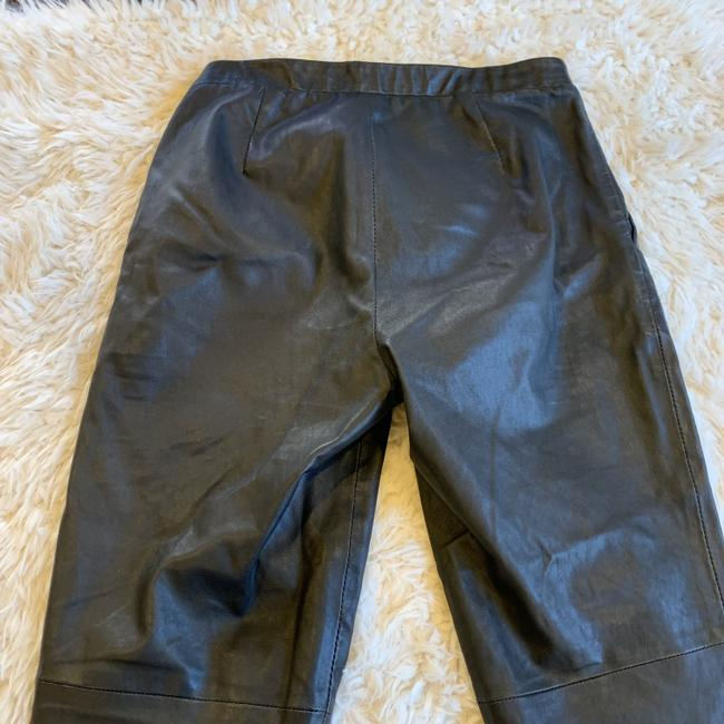 Theory Leather Work Casual Party Night Out Skinny Pants Black Image 9