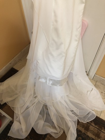 Katie May Ivory Twist Mykonos Front Crepe De Chine Mermaid Gown Modern Wedding Dress Size 8 (M) Image 10