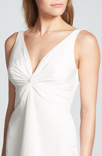 Katie May Ivory Twist Mykonos Front Crepe De Chine Mermaid Gown Modern Wedding Dress Size 8 (M) Image 3